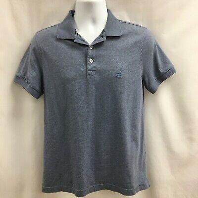 Nautica Slim Fit Polo Shirt Light Blue Short Sleeve Size M