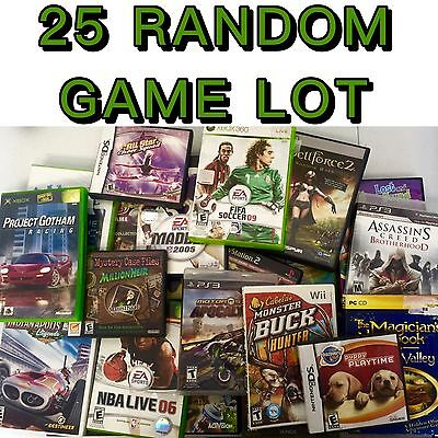 Play Station/Xbox/Wii/GameCube Mixed Games Wholesale Lot 25 Games Random Mix!!!!