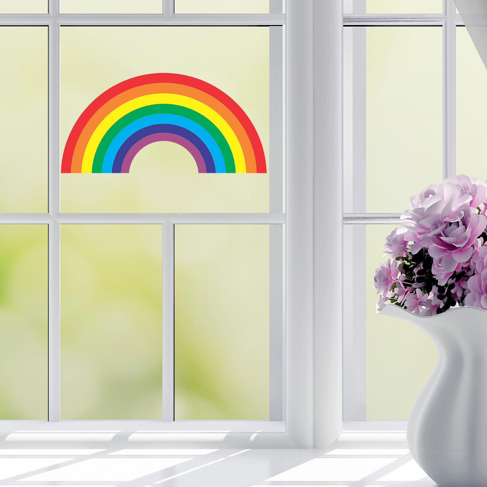Home Decoration - Rainbow of Hope in Isolation Quarantine Window Sticker Unity Faith Trust - 2 PCS