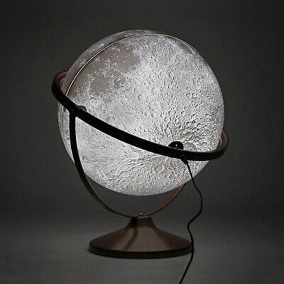 "Mapsoft Fine Illuminated Blank Moon Globe No Labels, 30cm/12"" MFI2-30"