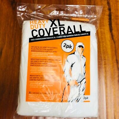 2 Pack Trimaco Heavy Duty Painters Coveralls With Hood Size Xl 09262