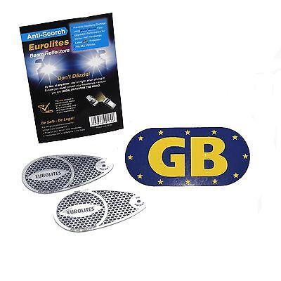 Euro Headlamp Beam Deflectors Head Light Convertors Adaptor Magnetic GB Plate