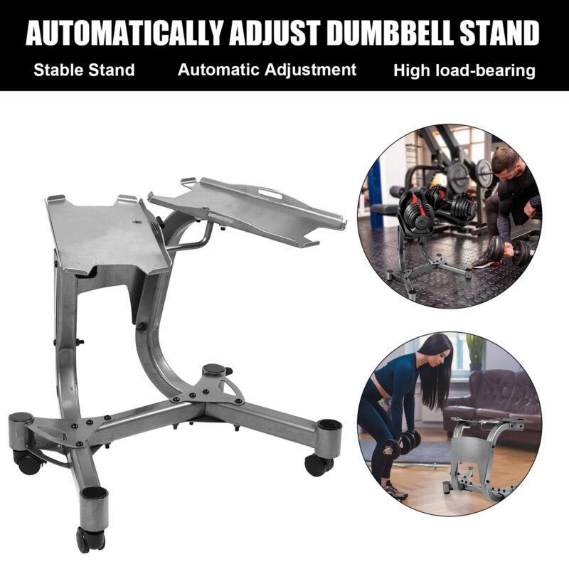 Adjustable Dumbbell Stand Towel Rack fits Dumbbells Home Fitness Gym Equipment