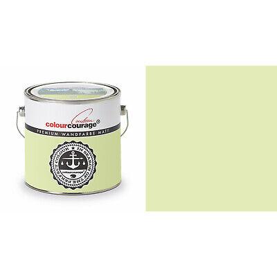 2,5l Colourcourage Premium Edelmatte Color Pared Lime Cream Verde Claro