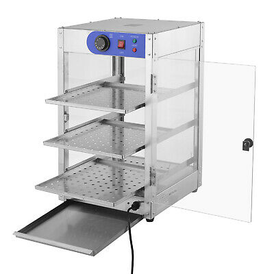 23-tier Commercial Food Pizza Warmer Cabinet Countertop Heated Display Case