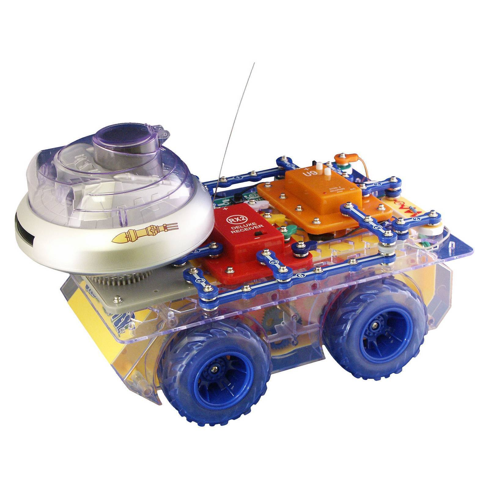 Elenco Electronics Snap Circuits Deluxe Rover Educational Toy Kids Sc750r Student Training Program Is Basically An Stock Photo