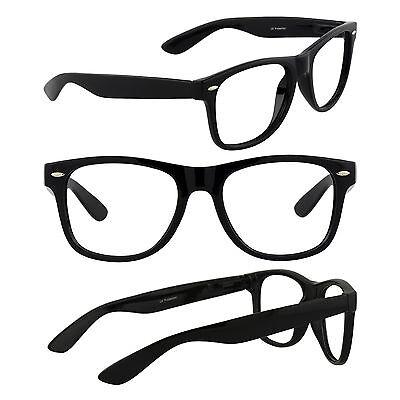 Men's Retro Wayfarer Glasses Nerd Geek Hipster Fake Eye Glasses w/ Clear Lens