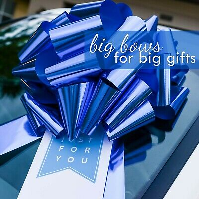Big Car Bow, Giant Pull Bow Gift Tag Combo for Cars, Wedding Decor, - Pull Bow