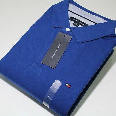 Men's Tommy Hilfiger Short Sleeve Denim Blue Polo Shirt Regular Fit (SU19) | NWT