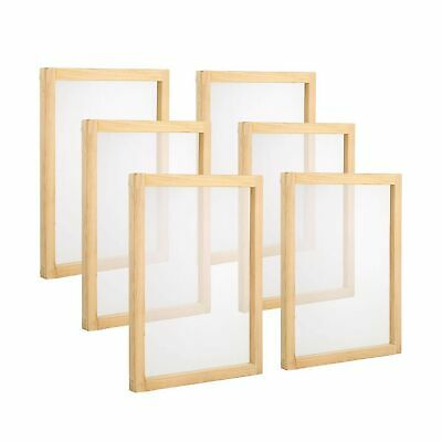 Pllieay 6 Pieces Wood Silk Screen Printing Frames 10 X 14inch With 110 White ...