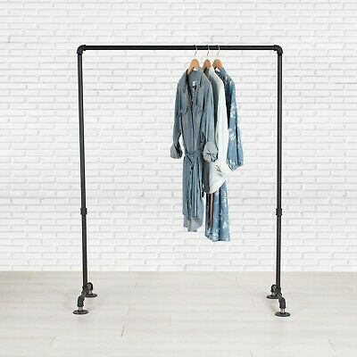 Industrial Pipe Clothing Rack By William Roberts Vintage - 36 Wide