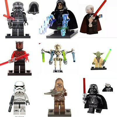 Star Wars Lego and custom Minifigures mini figure Jedi Darth Vader Mandalorian
