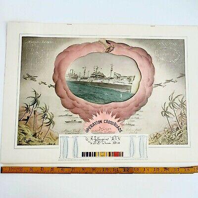 "1946 US Navy ""Operation Crossroads"" Atomic Bomb Test Picture, WW II Memorabilia"