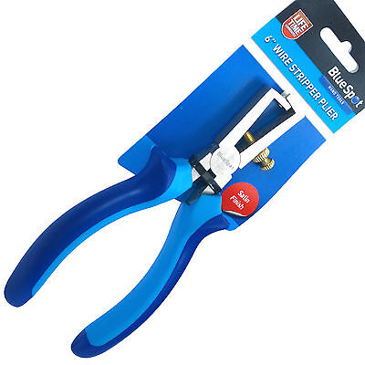 "Wire Stripper Plier. 6"" Electrical Wire Stripping adjustable Wire Strip Pliers"
