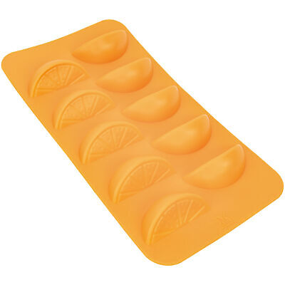 Orange Slices Shape Flexible 10 Ice Cube Tray Mold Silicone Novelty Food Gift Bar Tools & Accessories