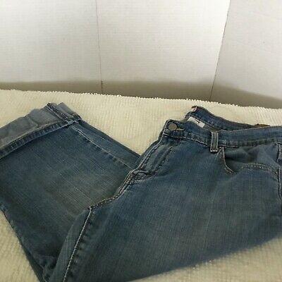 Levis Capri Jean Pants Womens 14 Cuff Medium Wash 515 Faded Cuff Capri Pants Jeans