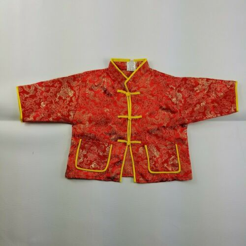 Traditional Chinese Tang Suit Jacket Blazer Kid 12M Embroidery Mandarin Collar