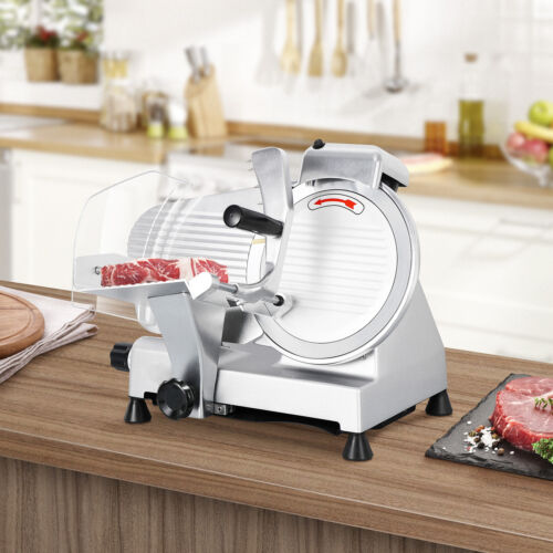 Electric Meat Slicer 10″ Blade 240w 530 rpm Deli Food cutter Commercial Business & Industrial