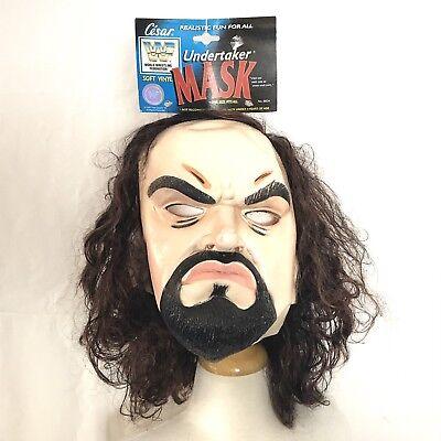 Original Halloween Mask (Deadstock Vtg 1997 Undertaker Halloween Mask With Original)