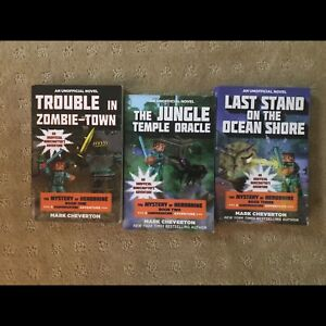 3 minecraft books, The Mystery of Herobrine Chapel Hill Brisbane North West Preview