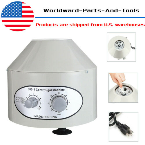 Electric Centrifuge Machine Lab Medical Practice 800-1 4000rpm + 6x20ml Rotor