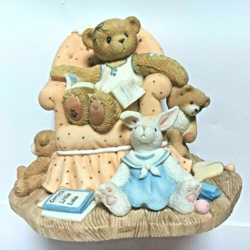 Very Rare Cherished Teddies 851809 Sheila Comic Books Chair Rabbit Teddy Bear 🌼