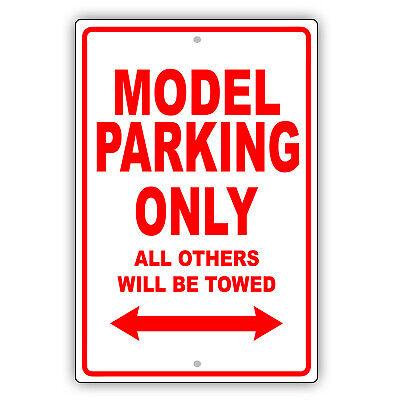 Model Parking Only Gift Decor Wall Art Novelty Garage Aluminum Metal Sign
