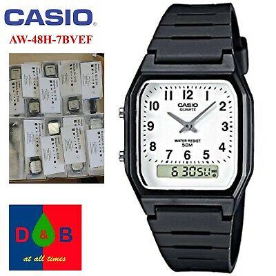 *BNIB* Casio AW-48H-7BVEF Collection Digital Analogue Resin Strap Men's Watch