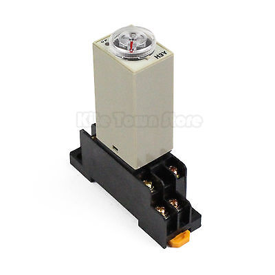 Dc 12v H3y-2 On Type Delay Timer Time Relay 1s 5s 10s 30s 60s 3m 10m 30m 1hbase