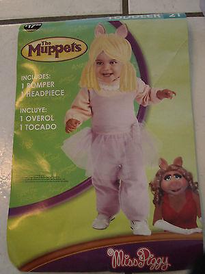 NWT Miss Piggy Sesame Street Costume Halloween Size 2T Toddler wig&jumpsuit