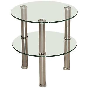 Great Round Glass Side Tables