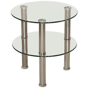 Amazing Round Glass Side Tables