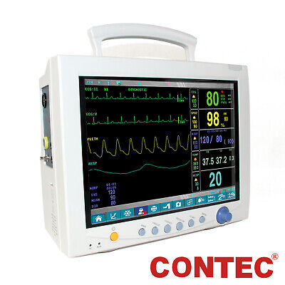 Icu 6-parameter Vital Signs Patient Monitor Cardiac Monitor Touch Screen 12.1