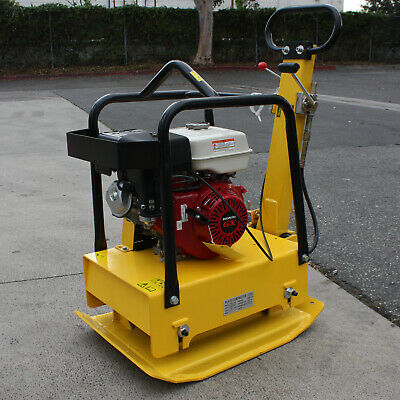 Reversible Plate Compactor Rammer 9hp Honda Gx Engine Dirt Soil Asphalt Tamper