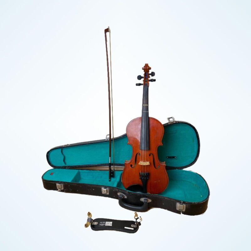 Cremona Fecit Anno Domini 1993 Wooden Violin Bow Case Forte Primo Shoulder Rest