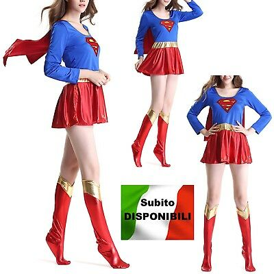 Carnevale Donna Supergirl Woman Cosplay Costume SUGIR01 (Super Girl Cosplay)
