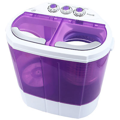Mini 8-9lbs Pocket Washing Machine Compact Washer Spin Dryer RV Dorm Laundry