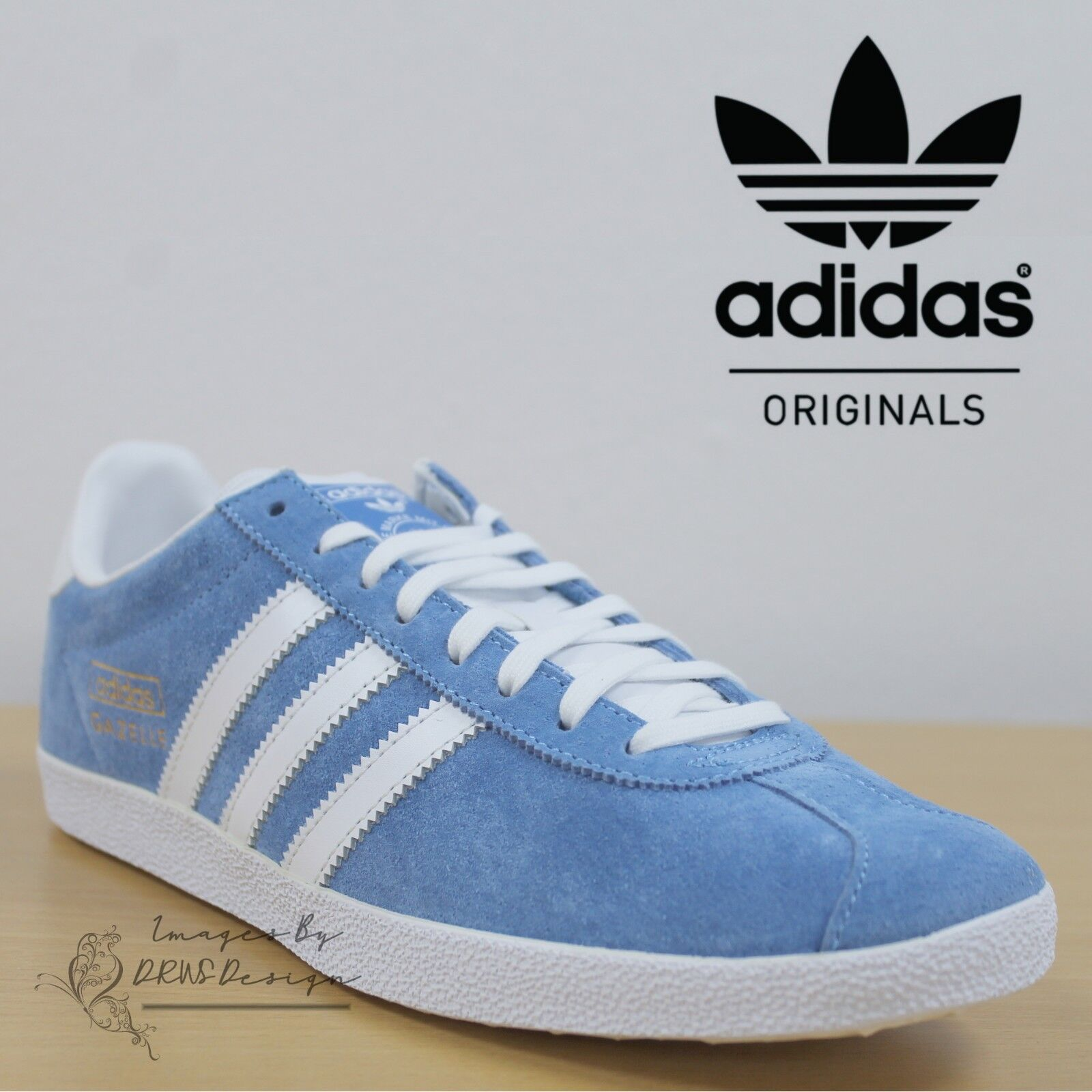 Details about adidas Originals Gazelle OG Men s Blue Trefoil Trainers  Casual Retro Sneakers 11a831f8c