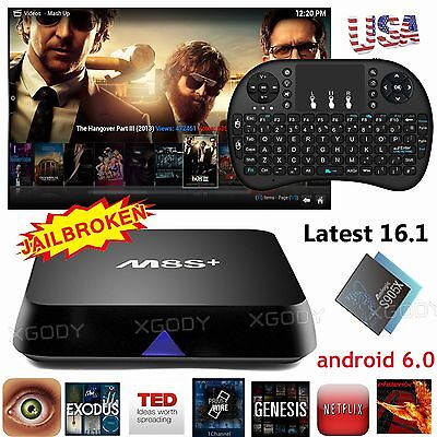 Quad Core Smart TV BOX Fully Load 16.1 4K Android 6.0 MXQ Pro Free Movies HDMI