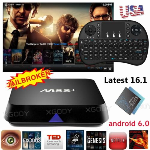 Quad Core Smart TV BOX Fully Loaded 16.1 4K Android 6.0 MXQ Pro Free Movies HDMI