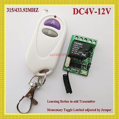 Dc 4V 5V 6V 7 4V 9V 12Vsmall Volume Wireless Contact Remote Switch No Com Nc Ask