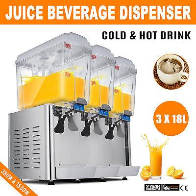 Commercial Juice Beverage Dispenser Fruit Ice Tea Cold Hot Drink
