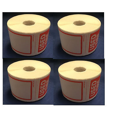 """Tire Label - USED TIRE 4 ROLL OF 250 STICKERS 6"""" X 2.5"""" Total 1000 Stickes"""