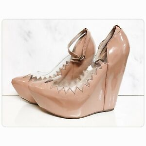 Jeffrey Campbell Audrey in Patent Beige - Brand New