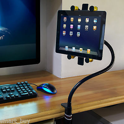 Universal Tablet stands Desk Floor Seat Gooseneck Mount Holder for Galaxy ipad