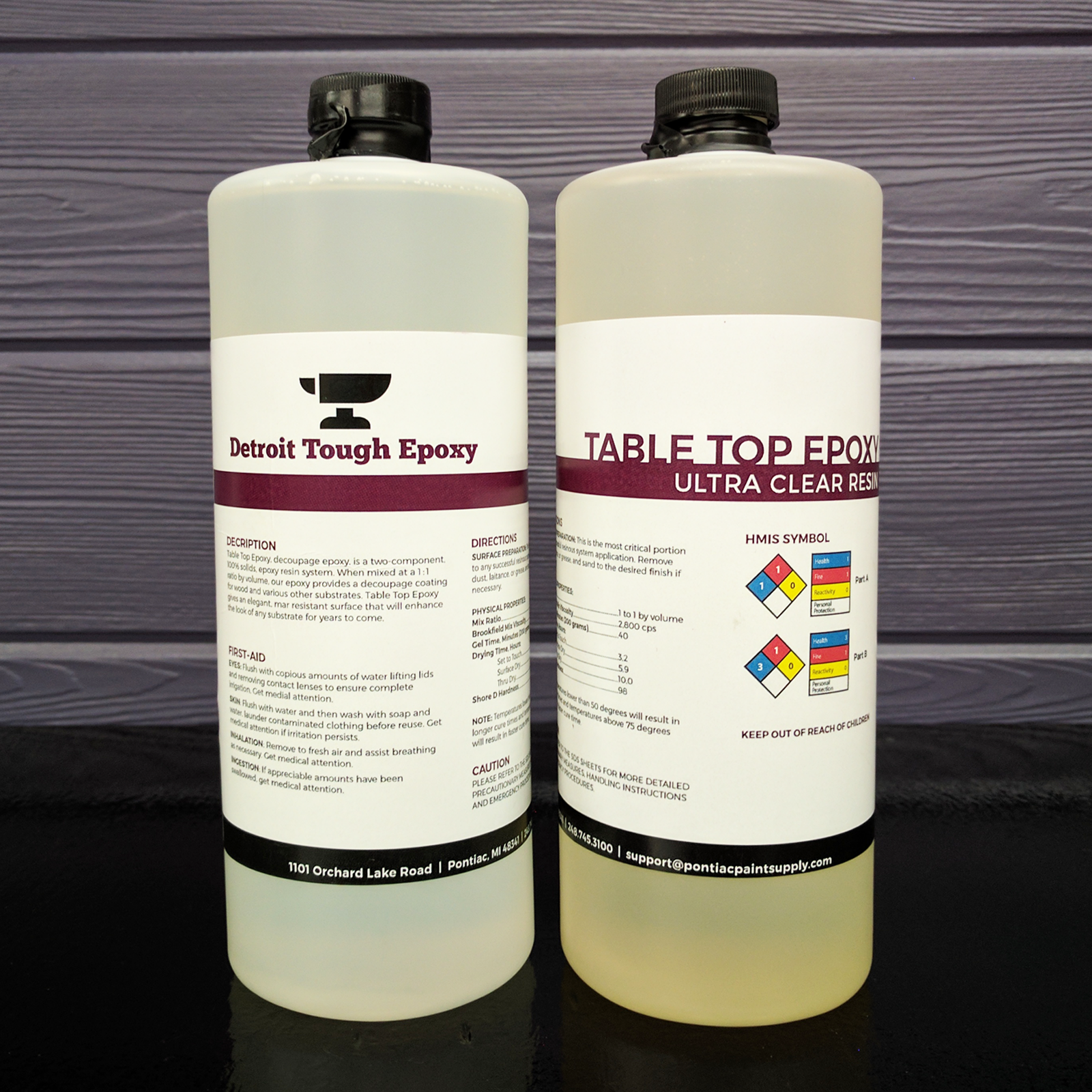 ULTRA CLEAR EPOXY RESIN – Bar Tops, Table Tops, & Wood Coating (32oz Kit) Adhesives, Sealants & Tapes