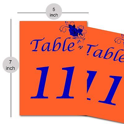 Paper Table Number Card Restaurants and Cafes for Reserved Table Décor Wedding (Reserved Cards For Tables)