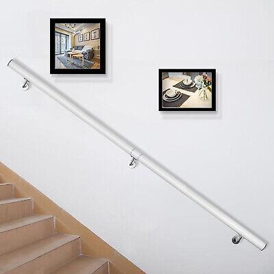 Pasamanos de Escaleras, Barandilla de Escalera de Aluminio de 152cm Blanca