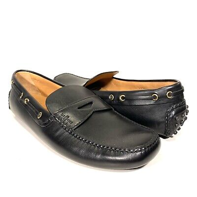 THE ORIGINAL CAR SHOE by Prada Mens Leather Drivers Loafers Black 10 (MSRP $495)