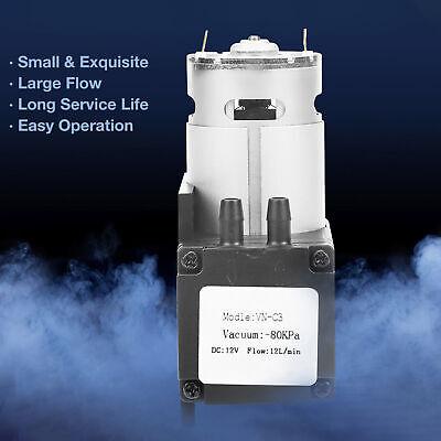 12v Mini Vacuum Pump 10lmin High Pressure Suction Diaphragm Pumps With Holder